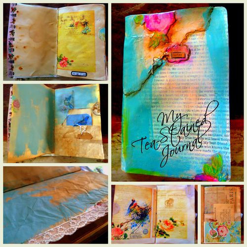 Journal Tea Stained collage